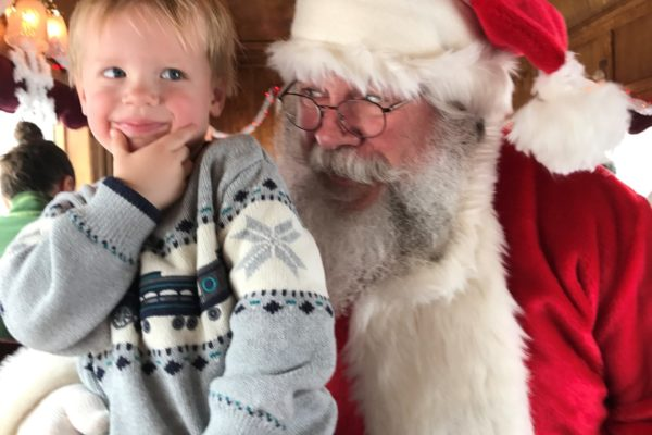 Child on Santa Express Train