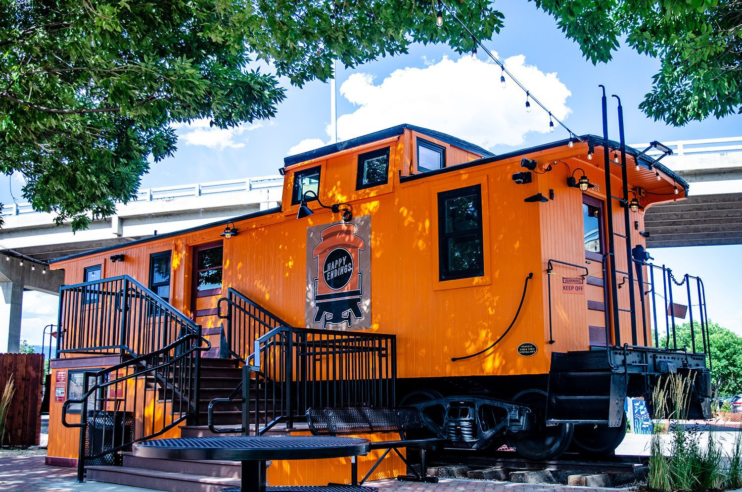 Happy Endings Caboose Cafe open daily at 7 a.m.
