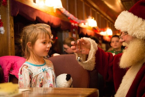 Little Girl Santa Bell Dining Car