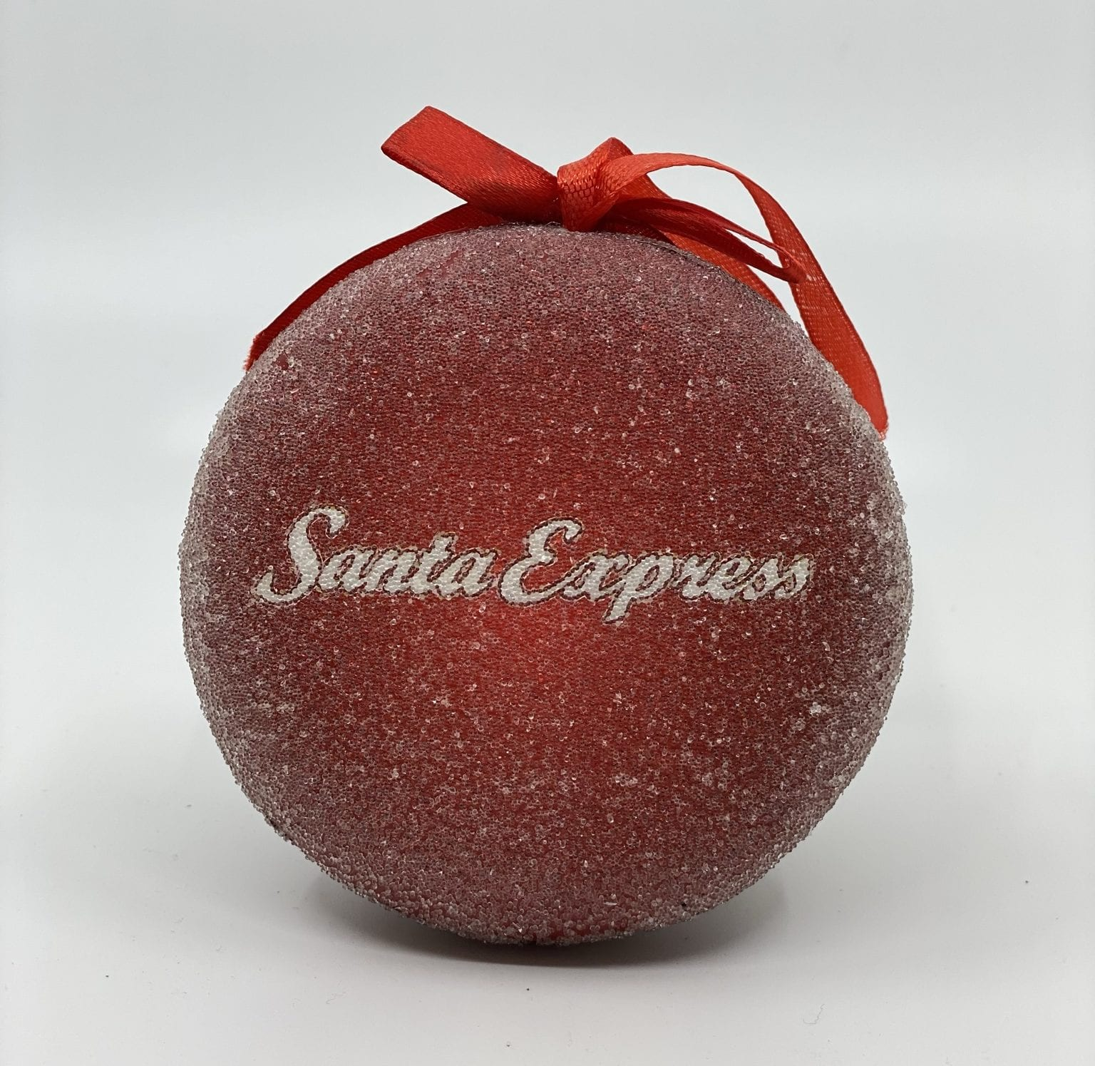 Frosted glass Santa Express Train Ornament 2020